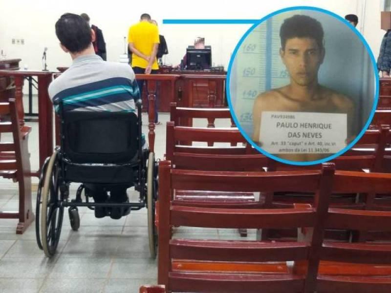 Rapaz assiste julgamento e vê homem que o deixou paraplégico ser condenado.