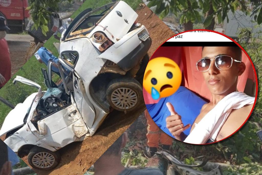 Jovem de 21 anos morre após carro capotar, bater em árvore e amassar ao meio RO 133 em Machadinho D'oeste 29